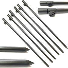 6 x 50-90cm Black Carp Coarse Aluminium BankSticks Bank Sticks Fishing Lidsters