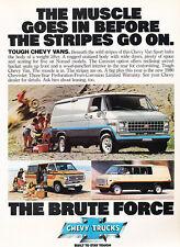 1980 Chevrolet Van Sport Chevy Original Advertisement Car Print Ad J502
