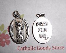 St. Saint John the Baptist / Pray for Us - Italian Silver Tone Ox 1 inch Medal