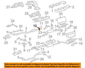 MERCEDES OEM 00-06 S500 5.0L-V8 Exhaust-Flange 1264920845