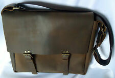 Vintage Real VEG TANNED Leather Postman Bag Indiana Jones, Handmade Large size