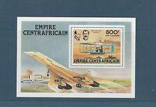 Centrafrique bloc  rétrospective de l' aviation Concorde   1978  OR  num: 25 **
