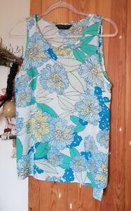 Cute Retro Floral Flower Power Pastel Shade Vest Top, Dorothy Perkins Uk 12
