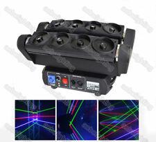 8 Lens Spider Beam Moving Head laser lights club party RGB Color DJ cabeza movil