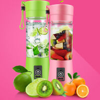 Portable Blender USB Juicer Fruit Mixing Slushie Smoothie Maker Bottle 380ML