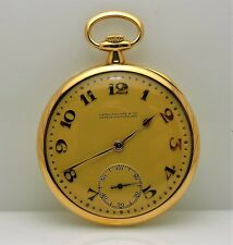 Patek Phillipe Pocket Watch Watch Vintage 1921 18 Karat Yellow Gold Engraved