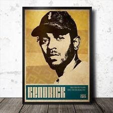 Kendrick Lamar Hip Hop art poster affiche musique rap Madlib Flying Lotus MOS DEF MF Doom