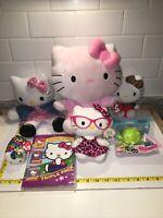 "Lot 7 Sanrio Hello Kitty Plush Ty Beanie Baby 11"" Puppet Teeny 6"" DVD Christmas"