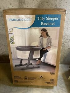 Simmons Kids Newborn Mobile Gray Bassinet / Sidebed / Crib / Cradle / Nursery
