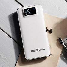 50000mah Power Bank LCD 2 USB LED External Battery Charger for iPhone X 8 8plus White
