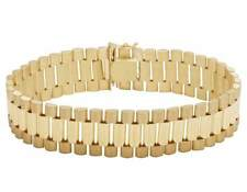 Solid 10K Gold Men's Presidential Style Designer Bracelet 16MM
