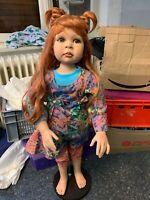 Pamela Erff Vinyl Künstlerpuppe Puppe 90 cm. Top Zustand