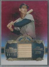 2013 TOPPS TRIBUTE TO THE STARS RED TED WILLIAMS BAT 09/10!! JERSEY NUMBER