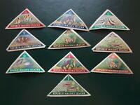 Maluku Selatan - 1953 - (CINDERELLAS) - 10 fish stamps