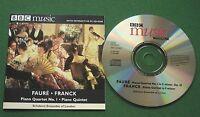 Faure Piano Quartet No 1 Franck Quintet Schubert Ensemble BBC Music Magazine CD