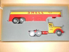SMITH MILLER LF MACK SHELL GAS TANKER SET IN BOX  VERY NICE TRUCK