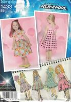 Simplicity 1433 Project Runway Girls Childs Dress w/ Bodice Size 4-8 New