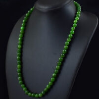 Details about  /715.00 Cts Earth Mined Pear Shape Green Emerald Carved Beads Necklace JK 04E239