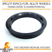 4 X 72.6-60.1 Roue Alliage Locating HUB Spigot Rings Fit Renault Twingo