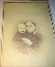 Antique Civil War American Smiling Child Affectionate Mother! Indiana CDV Photo!