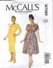 Vintage 60s Retro Rockabilly Slim Wiggle Tuck Midriff Dress Pattern 18 20 22 24