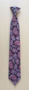 Mens Patterned Clipper Clip-On Snap-on Tie.