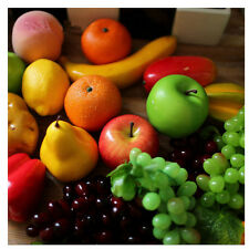 Artificial fake apple orange plastic fruit vegetables house party kitchen decor#