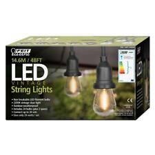 Feit 48ft (14.6m) LED Indoor/Outdoor Waterproof String Lights Set