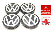 4 x 55 mm vw wheel centre caps fit volkswagen alloy hub neuf
