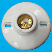 1x Glazed Ceramic Porcelain Light Bulb Fitting ES E27 Screw Lamp Holder Socket