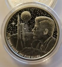 1 oz .999 silver round Apollo moon landing Neil Armstrong JFK NASA Kennedy space