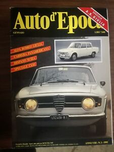 Magazine Auto D'Epoca Year's Issues Completa Year 1991 Monthly Cars Fiat Lancia