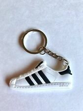 New 2D PVC Adidas Original Black and White superstar Sneaker Keychain