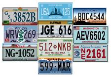 Lot de 10 répliques de plaques d'immatriculation américaines en métal