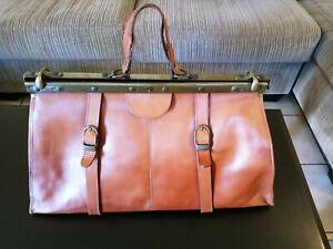 Vintage Leather And Metal Doctor Bag