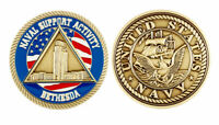 US Navy USN Naval Support Activity Bethesda Maryland Challenge Coin