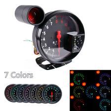 12V 5'' RPM 11000K Tachometer Gauge 7 Color For 4/6/8 Cylinder Engine Vehicles