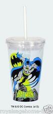 16230 Batman Insulated travel Cup w/straw superheroes dc comics Caped Crusader