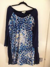 Autograph size 22 blue long sleeve top with patterned coloured front