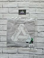 New Deadstock Palace Hesh Mit Fresh T-Shirt Tee Top Grey Marl Small in Hand BNIP