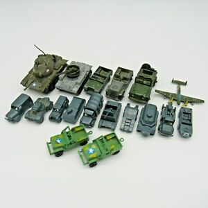 Vintage Lot of Military Vehicles Plane Tanks Dinky Toys Austin Champ Collectible