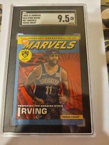 2020-21 Donruss Net Marvels Press Proof #12 Kyrie Irving Brooklyn Nets SGC 9.5
