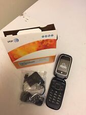 New AT&T T-Mobile GSM Unlocked ZTE Z222 Black Clam Shell Flip Cell Phone Device