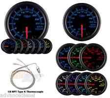 GlowShift Black 7 Color 2400 F Exhaust Temperature Gauge GS-C708