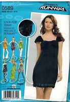 0589 Vintage Simplicity Sewing Pattern Juniors Knit Dress Tunic Project Runway