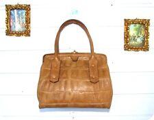 Vintage PETERS Leder Tasche Handtasche Bag Handköfferchen Leather Pin Up Kroko