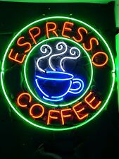 "New Espresso Coffee Cafe Shop Open Neon Sign 24""x20"""