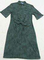 Simply Vera Wang Dress Woman's Medium Short Sleeve Blue Polyester Spandex Womens