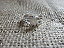 1 Silver Plated Ring Base Blank Adjustable Cabochon 14x10mm Setting