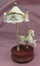 WESTMINSTER CAROUSEL MUSIC BOX WITH HORSE AND CANOPY